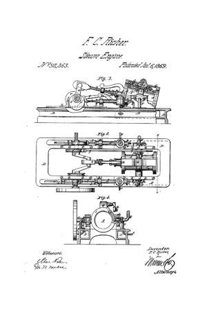 Primary view of object titled 'Improvement in Oscillating Steam-Engine'.
