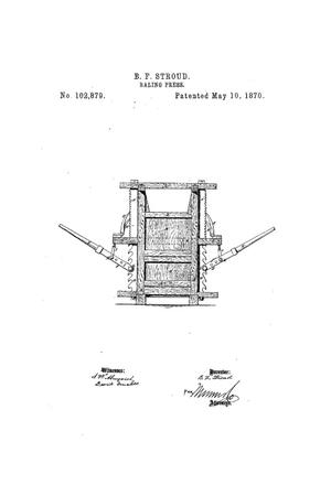 Primary view of object titled 'Improvement in Baling Presses.'.