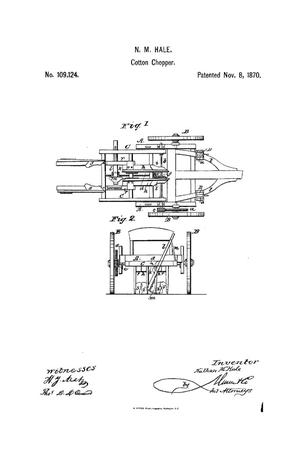 Primary view of object titled 'Improvement in Cotton Scrapers and Choppers.'.