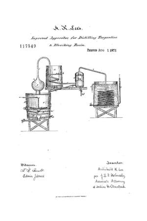 Primary view of object titled 'Improvement in Apparatus for Distilling Turpentine.'.