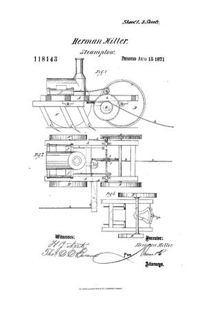 Primary view of object titled 'Improvement in Steam-plows.'.