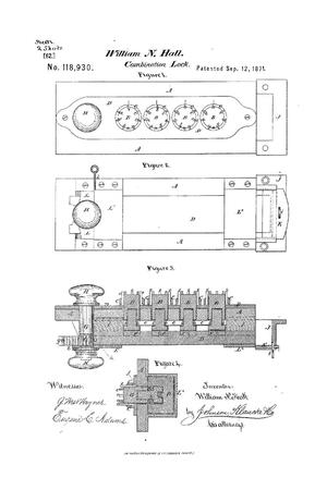 Primary view of object titled 'Improvement in Combination Locks.'.