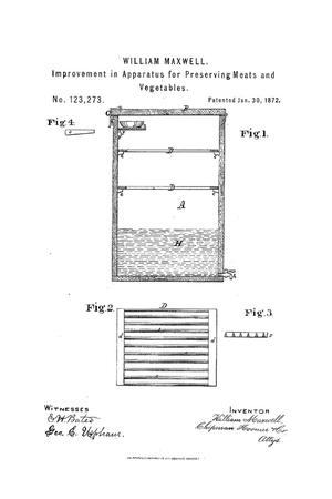 Primary view of object titled 'Improvement in Apparatus for Preserving Meats and Vegetables'.