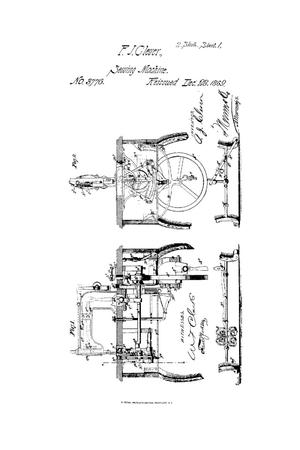 Primary view of object titled 'Improvement in Sewing Machines'.