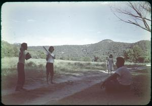 Primary view of object titled '[Photograph of People Playing Baseball]'.