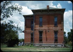 Primary view of object titled '[Photograph of South Side of Old School Building]'.