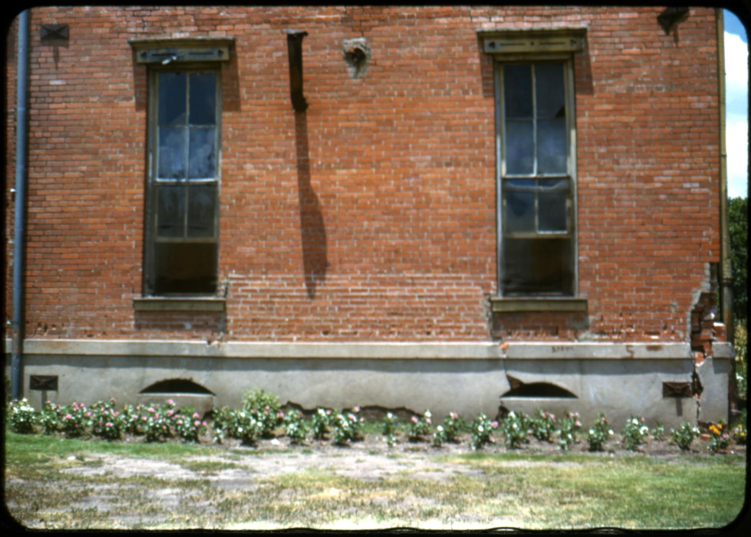 [Photograph of South Side of Old School Building]                                                                                                      [Sequence #]: 1 of 1
