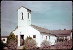 Primary view of object titled '[Photograph of a White Building]'.