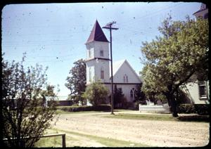Primary view of object titled '[Photograph of Mexican Presbyterian Church]'.