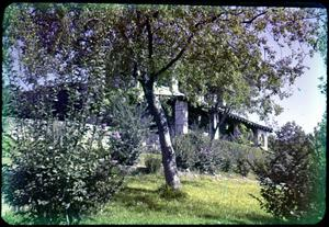 Primary view of object titled '[Photograph of Building at Mo-Ranch]'.
