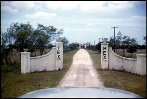 Primary view of object titled '[Photograph of Entrance to Tex-Mex Institute]'.