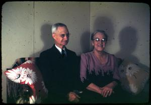 Primary view of object titled '[Photograph of Dr. Rev. R.D. Campbell and Wife]'.