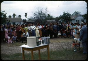 Primary view of object titled '[Photograph of People at Ground Breaking Ceremony]'.