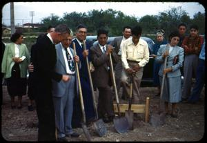 Primary view of object titled '[Ground Breaking Ceremony]'.