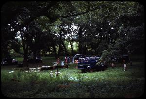 Primary view of object titled '[Photograph of People at Pecan Grove Campground]'.