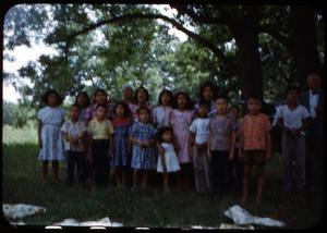 Primary view of object titled '[Photograph of Children at Pecan Grove Campgrounds]'.