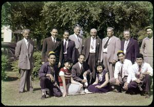[Photograph of Students and Visiting Ministers at Austin College]