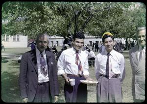 Primary view of object titled '[Photograph of Four Men at Austin College]'.