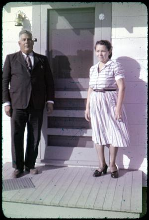 Primary view of object titled '[Photograph of Reverend S.G. Ramirez and Wife]'.