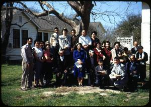 Primary view of object titled '[Photograph of Group Outside]'.