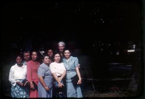Primary view of object titled '[Photograph of Group of Women Outside]'.