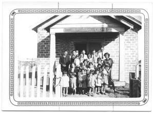 Primary view of object titled '[Bay City Mexican Presbyterian Church and some members]'.