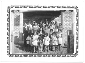 Primary view of object titled '[Members and children of the Bay City Mexican Church]'.