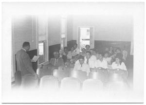 Primary view of object titled '[Meeting in Beeville]'.
