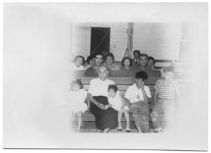 Primary view of object titled '[Portrait of a group of unknown people]'.