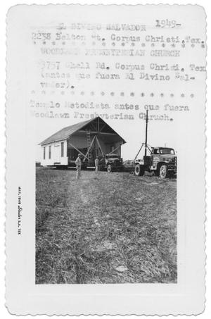Primary view of object titled '[Moving a church]'.