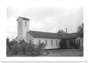 Primary view of object titled '[Side View of Mexican Presbyterian Church]'.