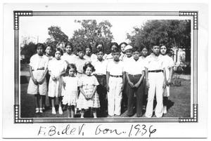 Primary view of object titled '[School Children in Gonzales, Texas]'.