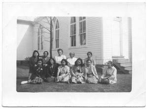 Primary view of object titled '[Ladies Auxiliary in Gonzales, Texas]'.