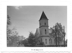 Primary view of object titled '[Mexican Presbyterian Church in Gonzales, Texas]'.