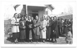 [Auxiliary Group in Front of Church]