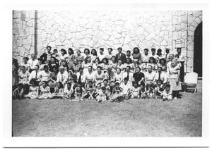 Primary view of object titled '[Group Picture of Members of the Second Mexican Conference #4]'.