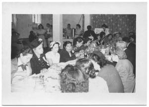 Primary view of object titled '[Presbyterian Ladies Enjoying a Formal Meal]'.