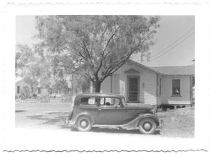 Primary view of object titled '[Car Parked in Front of a House]'.