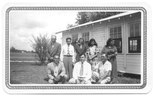 Primary view of object titled '[Group Posed in Front of a Presbyterian Sunday School]'.