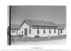 Primary view of object titled '[Street View of a Presbyterian Church]'.