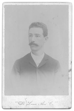 Primary view of object titled '[Portrait of a Young Hispanic Man with a Mustache]'.