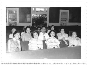 Group of Women Sitting in Church Pews