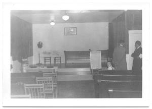Primary view of object titled '[Inside View of a Small Prebyterian Church]'.