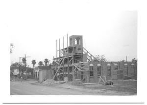 Primary view of object titled '[Side View of a Building Under Construction]'.