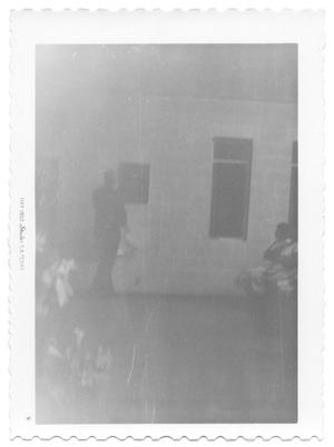 Primary view of object titled '[Silhouette Standing Next to a Window]'.