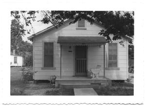 Primary view of object titled '[Front of a Small Manse with a Porch]'.