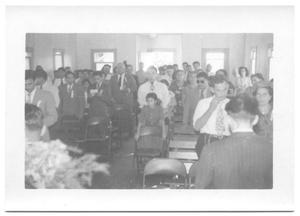 Primary view of object titled '[Congregation Sitting in Church]'.