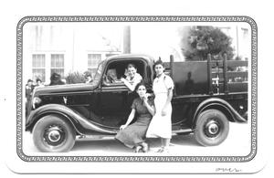 Primary view of object titled '[Three Hispanic Women in a Pick-Up Truck]'.