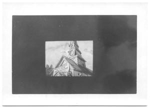Primary view of object titled '[Cartoon Steeple from a Film Strip]'.