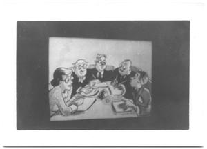 Primary view of object titled '[Cartoon Characters Writing from a Film Strip]'.